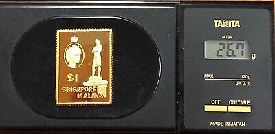 The empire collection gold plated silver stamp .925 - Singapore 26.7 grams