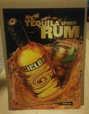 2002 Ciclon Tequila Spiked Rum Ad. Premium Bacardi