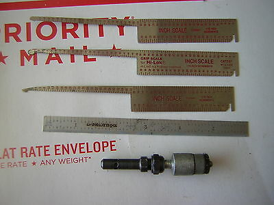 """3 H-lok scales, 1  6"""" scale. Aircraft tools."""