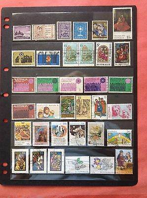 Australian CHRISTMAS 70 Fine Used SHEET Stamps Decimal And Pre Decimal From 1959