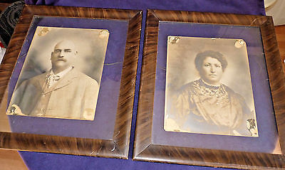 "Lot 2 Antique Wood Picture Frames Early 20th Century Victorian Era 21-1/2"" Tall"