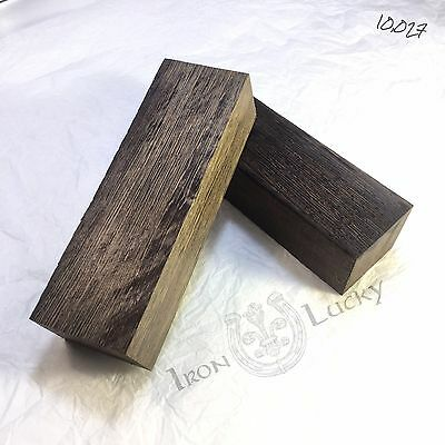 """Blank WENGE for the Handle of the Knife Block 4.9""""1.5""""1.2"""". Set of TWO PIECES!"""