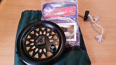 Fly Fishing reel and line (wf) with bonus bag and leader