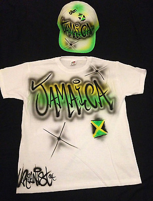 Urbanist Birthday Airbrushed Graffiti kid/'s T-Shirt age on back or front