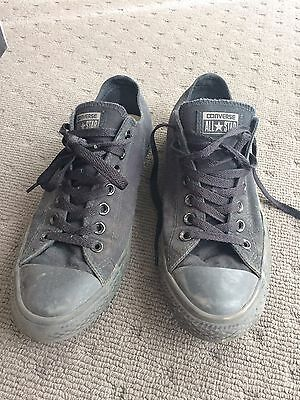 Converse Shoes Black Exc Cond Geelong Size 9.5 Men's