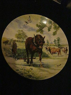 """Danbury Mint Collectors Plate New Boxed Working Horses """"summer"""""""