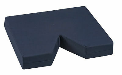 "3"" Thick Foam Seat Cushion: Coccyx Tailbone Cutout For Wheelchairs, Large Chairs"