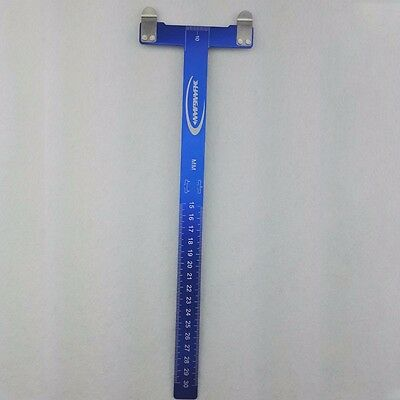 Blue T Type Ruler Stainless Steel Measurements For Recurve Bow Arrow Nock Point