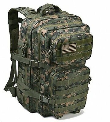 Military Tactical Backpack Large Army Assault Pack Molle Bug Out Bag
