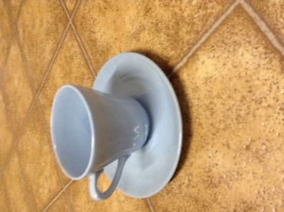 Meakin -Blue -cup and saucer-England-Lovely!!