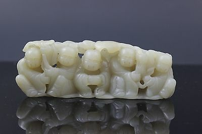 Antique Chinese Carved White He Tian Jade Statue - Circa Republic of China