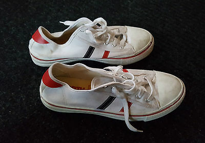 Vintage North Star Runners Canvas, Red and Blue Stripe, Rare, Old,