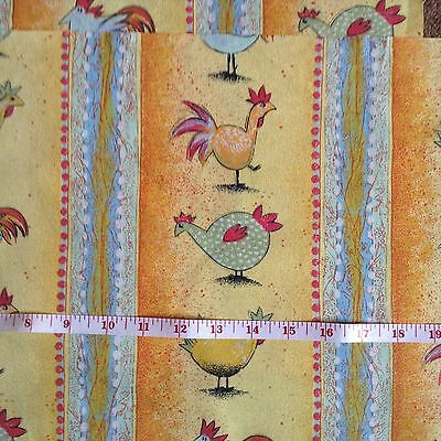 100% Cotton Fabric Funky Chickens Patchwork & Quilting Sewing