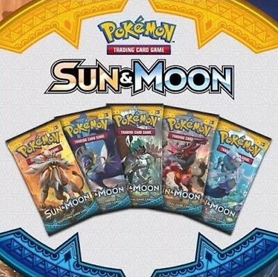 Pokemon Sun And Moon Booster X 10 (Sealed)(Pre-Order) Ships 3 Feb 2017