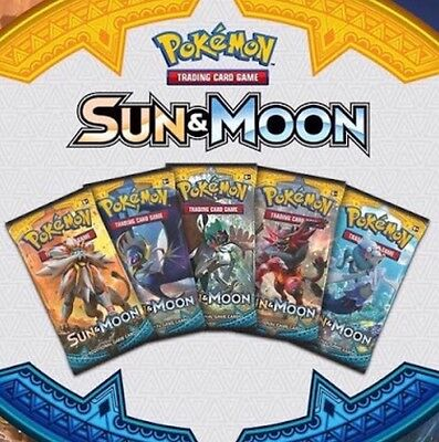 1 X Pokemon Sun And Moon Booster (Sealed)(Pre-Order) Ships 3 Feb 2017