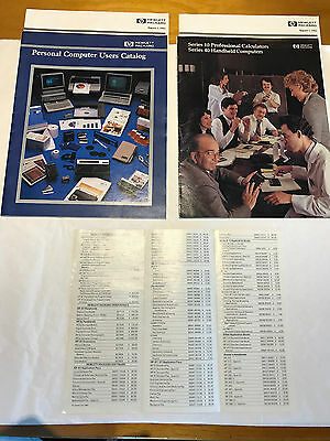 TWO Vintage HEWLETT PACKARD CATALOGS AND PRICE LISTS