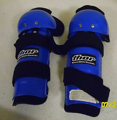 Thor Knee/shin Guards, Adult, Blue,