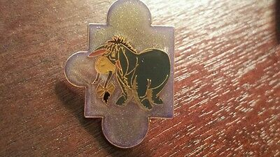 Eeyore Disney Pin Winnie the Pooh Tail in his mouth Puzzle Piece