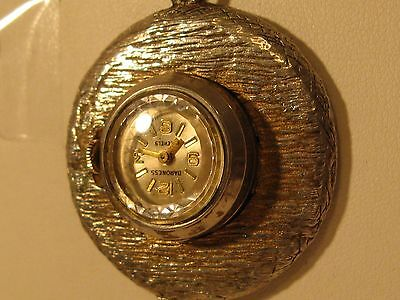 Antique/vintage Baroness 17 Jewel Wind-Up Pendant Watch/good Cond/keeps Time.