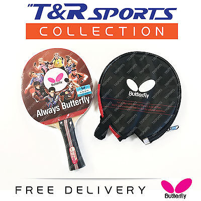 Butterfly TBC 301 Table Tennis Ping Pong Bat Racket Paddle Long Handle Free Bag