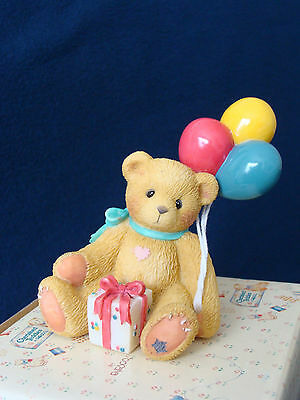 Cherished Teddies - Nina - Girl With Balloons - Event Figurine - 215864 - 1996