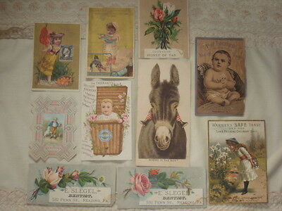 LOT 10 Antique Victorian Trade Cards Rare Advertising Trade Cards