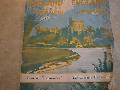 1920s Booklet of England by The Canadian Pacific Railway-Railway Map inside