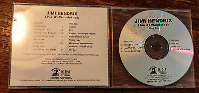 Jimi Hendrix Advance Promo CD for Live at Woodstock