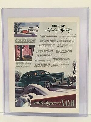 Original 1940 Nash Motors Advertisement Ad - Vintage Color Ad