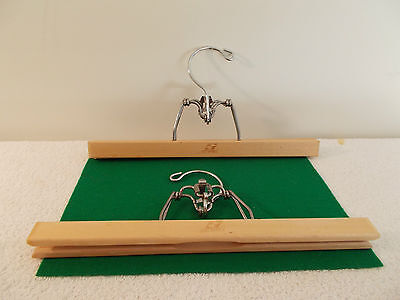 Lot of 2 Vintage Setwell Wooden Pant/Skirt Hangers
