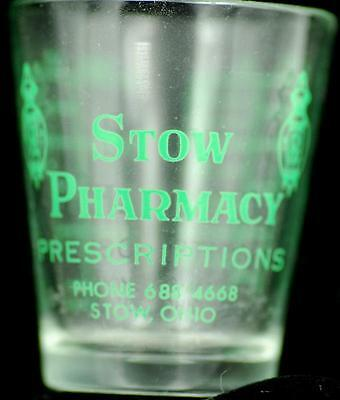 Dose Glass STOW Pharmacy Stow OH advertising druggist pharmacy applied 13
