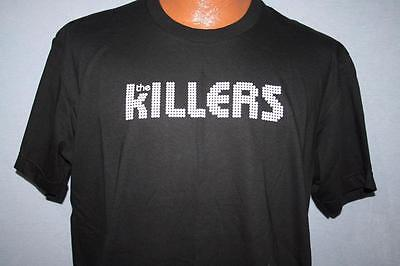 THE KILLERS Black & White Band Logo Concert T-SHIRT XL American Apparel ROCK