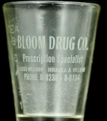 Dose Glass Bloom Drug Co Youngstown OH advertising druggist pharmacy 10