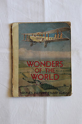 """NESTLE'S PICTURE STAMP ALBUM. TRADING CARDS cigarette card Swap cards 'Wonders"""""""