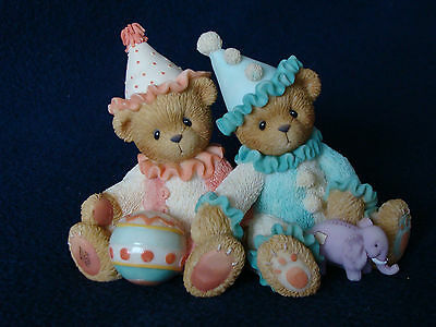 Cherished Teddies - Palmer And Charlene -Boy And Girl Dressed As Clowns- 786586