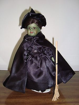 "Seymour Mann Storybook Tiny Tots Wicked Witch Porcelain LE 10"" Collectible Doll"