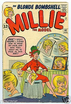 Millie The Model # 107 March 1962 Vg