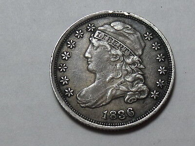 1836 US BUST DIME 10c FINE VERY / EXTRA FINE DETAILS