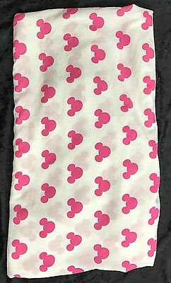 DISNEY Pink Minnie Mouse Twin Fitted Bed Sheet ONLY