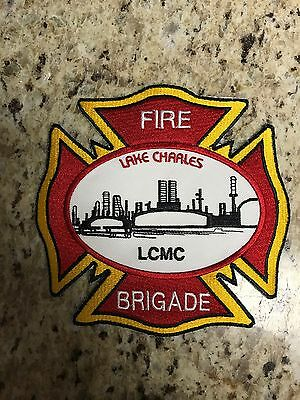 """ConocoPhillips Lake Charles Refinery Fire Brigade Sew On Patch 5.5""""x5.5"""""""