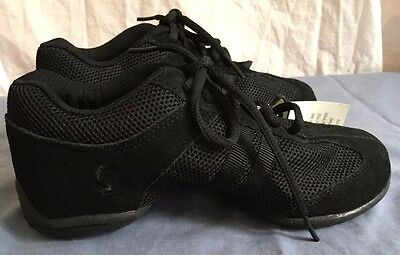 Sansha Dyna-Mesh S36 low-top dance Sneakers, Black, Sz 1M, NWT