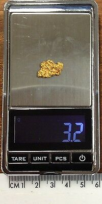Australian Natural Gold Nugget 3.2 grams  approx weight ..