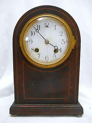 Antique NEW HAVEN Beehive WIND UP CLOCK with CHIMES -Inlay
