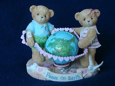 Cherished Teddies - Parker And Carly - Boy/Girl/Globe Figurine -Limited- 116547