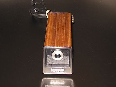 Panasonic Pencil Sharpener Electric KP-77S Vintage Woodgrain Tested Auto-Stop