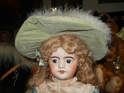 Antique French Depose #8 Walking And Kiss Blowing Doll Antique Dress/shoes