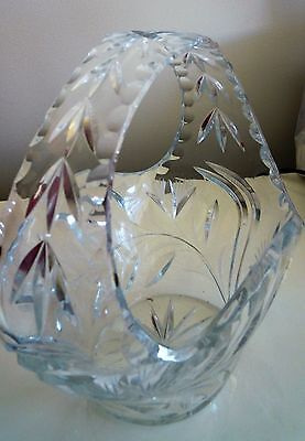 Crystal Basket/bowl .  Unused - Display Only.  As New Condition.