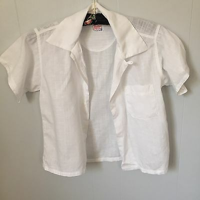 "Vintage 1950s Boys Cotton Shirt.32"" Chest. Summer Shirt."