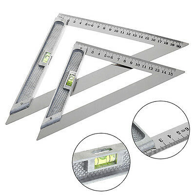 15cm/20cm Triangle Ruler 90° with Bead Horizontal Woodworking Measuring Tool