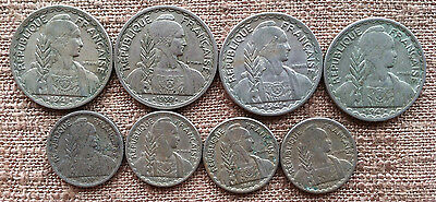 8 FRENCH INDOCHINA Coins/1939 & 1941 10 & 20 Cents